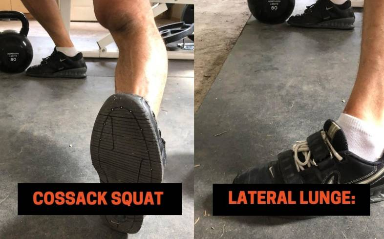 Difference #2 between the Cossack Squat vs lateral lunge - The Foot Position