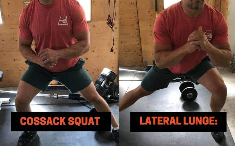 Difference #3 between the Cossack Squat vs lateral lunge - The Torso Position