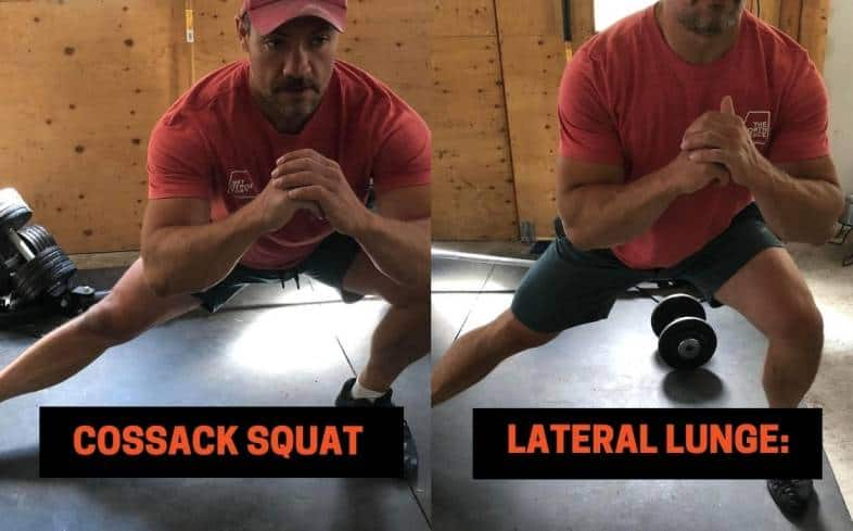 Difference #4 between the Cossack Squat vs lateral lunge - The Range of Motion