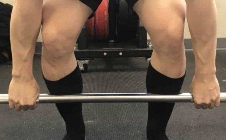don't have your hands outside of shoulder-width apart in the deadlift