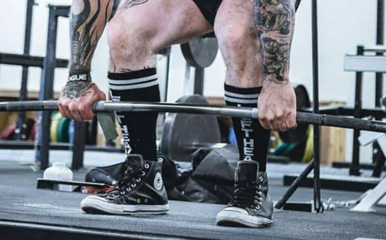 don't stand with your feet outside shoulder-width apart in the deadlift