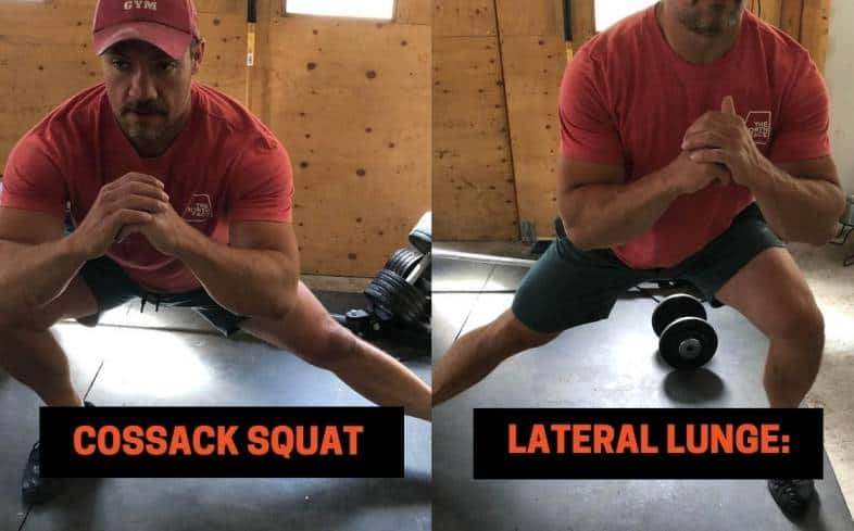 the two most obvious similarities are that both the Cossack squat and lateral lunge involve lateral training and both are uni-lateral movements