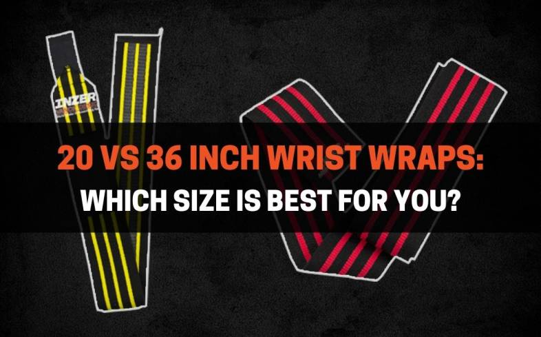 the two most common sizes for lifting wrist wraps is either 20-inch or 36-inch