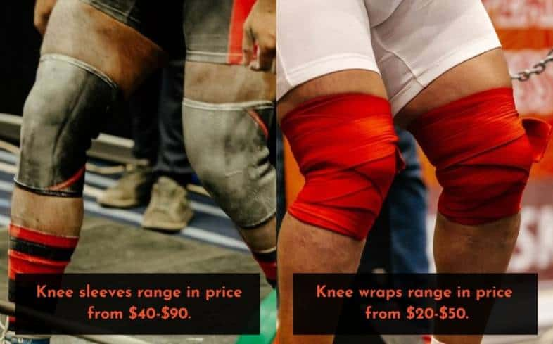 knee sleeves are more expensive than knee wraps