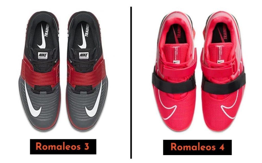 Design and Colors: Nike Romaleos 3 vs 4