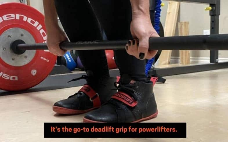 the main benefit of the mixed grip deadlift is you can automatically deadlift more weight without having to train your grip strength