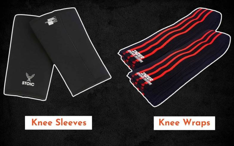 Knee sleeves are neoprene whereas knee wraps are made from elastic materials