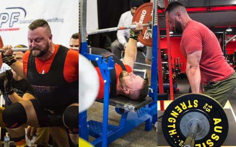 structure your training split into powerlifting movements - squat, bench press, and deadlift