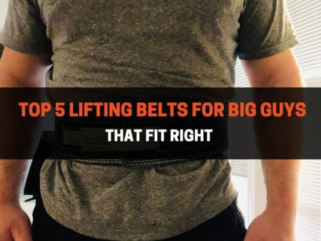 Top 5 Lifting Belts For Big Guys That Fit Right (2021)