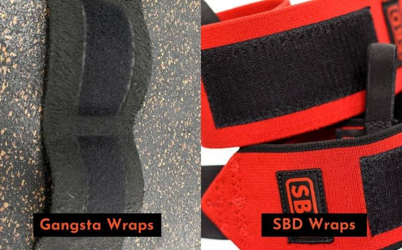 both gangsta and sbd wraps feature velcro closure, which is the gold standard for most wrist wraps