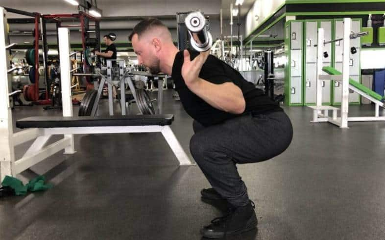Performing the Narrow Stance Squat