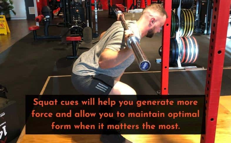 you need a squat cue to help you break through your sticking point at the lockout
