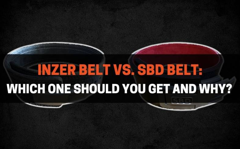 comparing two of the best lifting belts on the market - Inzer belt vs. SBD belt