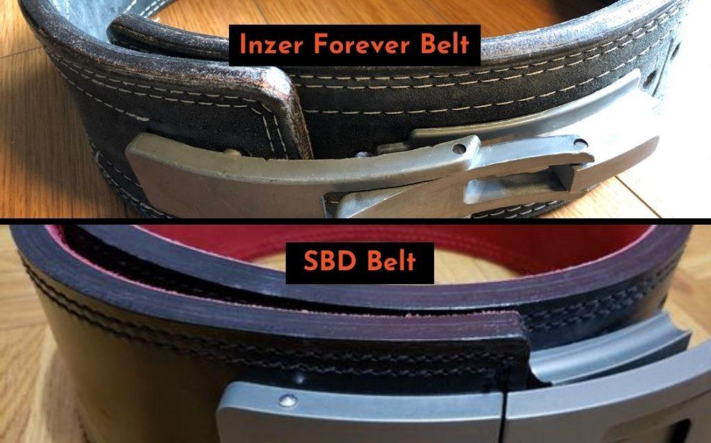 Inzer Belt vs SBD Belt basic construction comparison