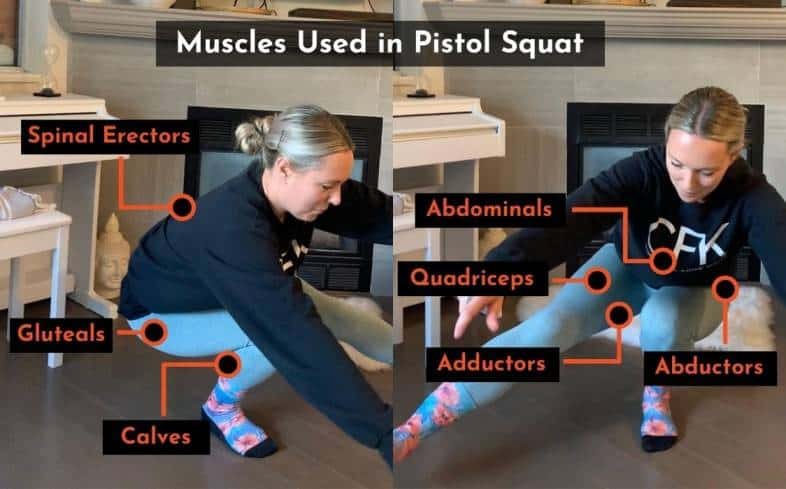 muscles used in the pistol squat