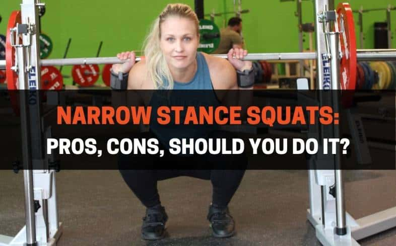 a narrow stance squat or close stance squat is a back squat performed with feet at around shoulder-width apart or even narrower