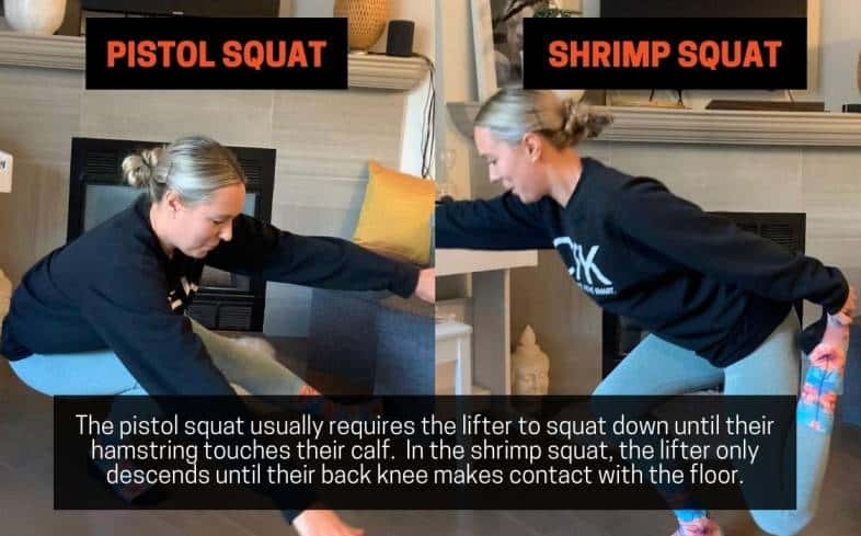 Range of Motion - Pistol Squat vs Shrimp Squat