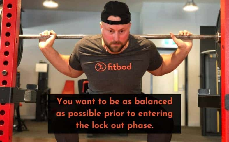 you want to be as balanced as possible prior to entering the lock-out phase
