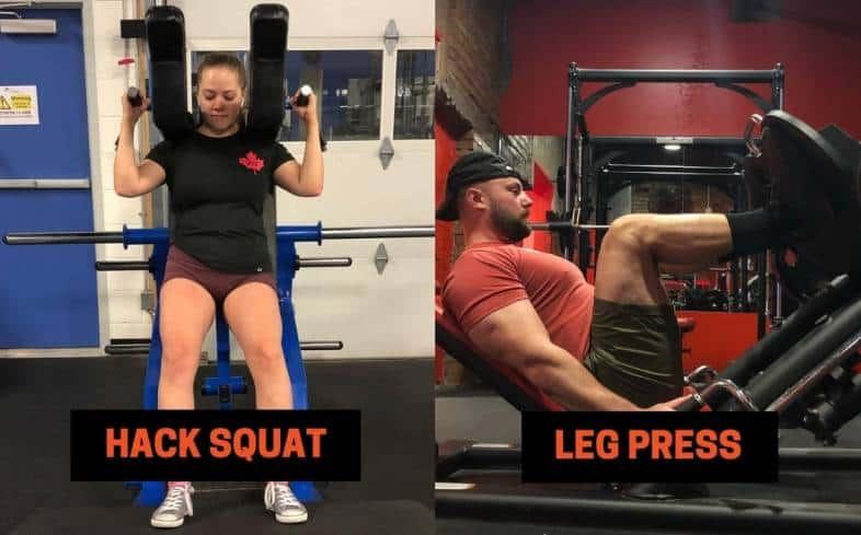Hack squat vs leg press: Weight Used