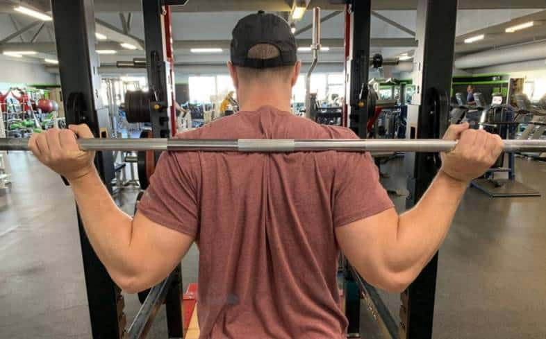 barbell too high on your back