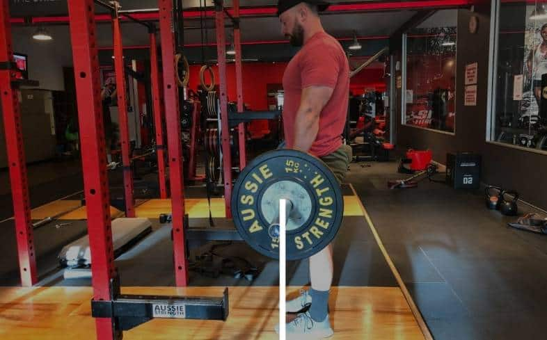 bar path during the deadlift, it should look like a straight line from start to finish