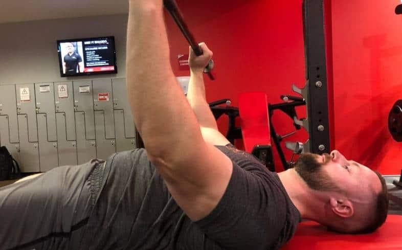 decrease your training volume for pressing exercises