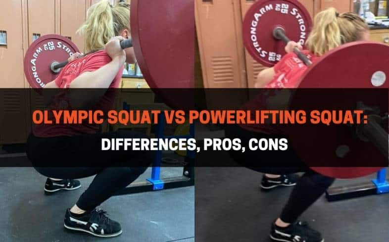 differences between the olympic squat vs powerlifting squat
