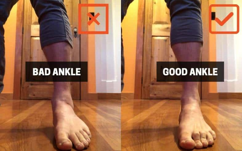 tight ankles can cause your knees to cave
