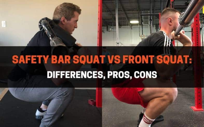 Difference Between a Safety Bar Squat and Front Squat