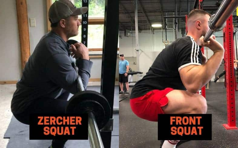 zercher squat and front squat key differences that you should be aware of in order to grow your legs as much as possible