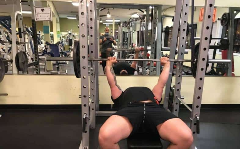 add plates to the bar and work up