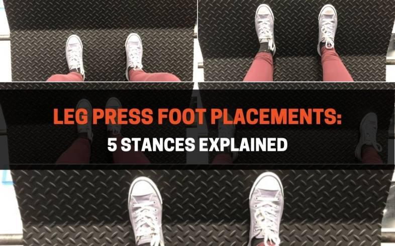 5 leg press foot placements