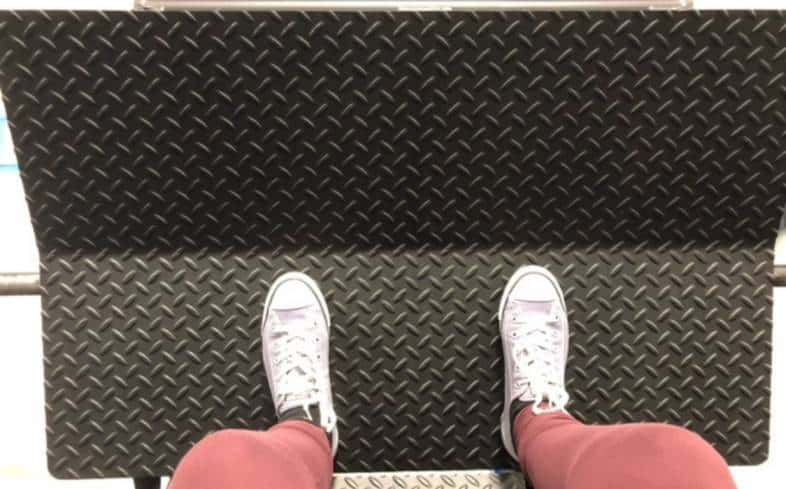 low on platform stance places feet low on the platform about shoulder-width apart