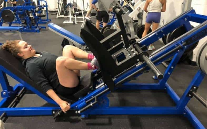 perform deeper reps to target your glutes more in the leg press