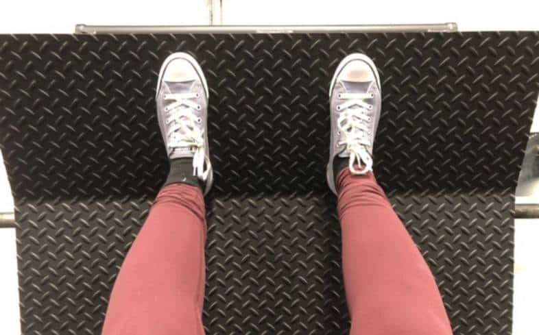 set your feet high up on the platform in the leg press where your toes are just teetering on the edge and you will use more glute muscles