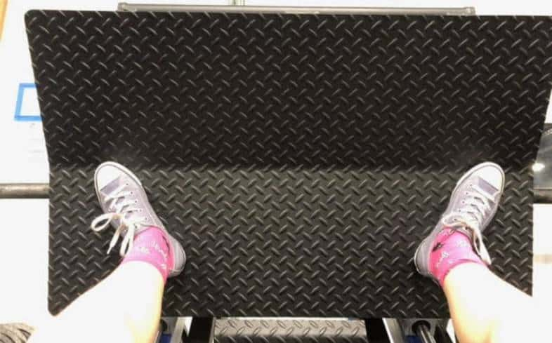 point your toes out more to target your glutes more in the leg press