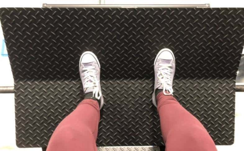 regular foot stance places your feet in the middle of the platform, about shoulder-width apart