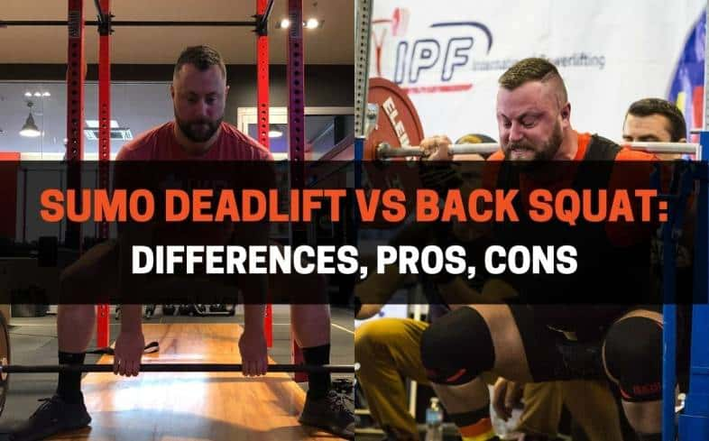 difference between a sumo deadlift and back squat