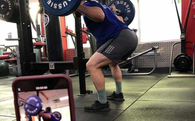 changes in your stance width during a squat can create favorable changes for your lower back mechanics