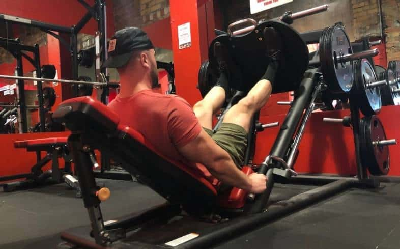 the most common type of leg press is the 45-degree leg press