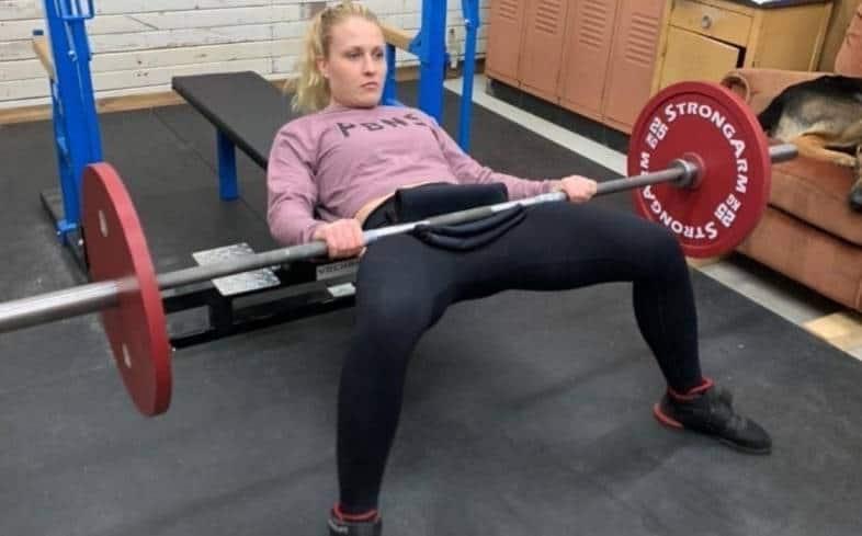 widen your stance hip thrust