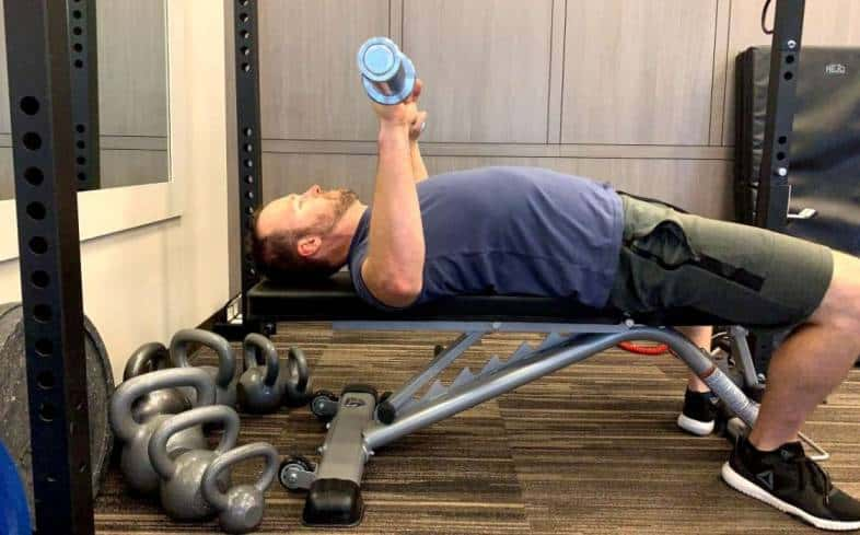 symmetrical torque and load running through your elbows as you bench