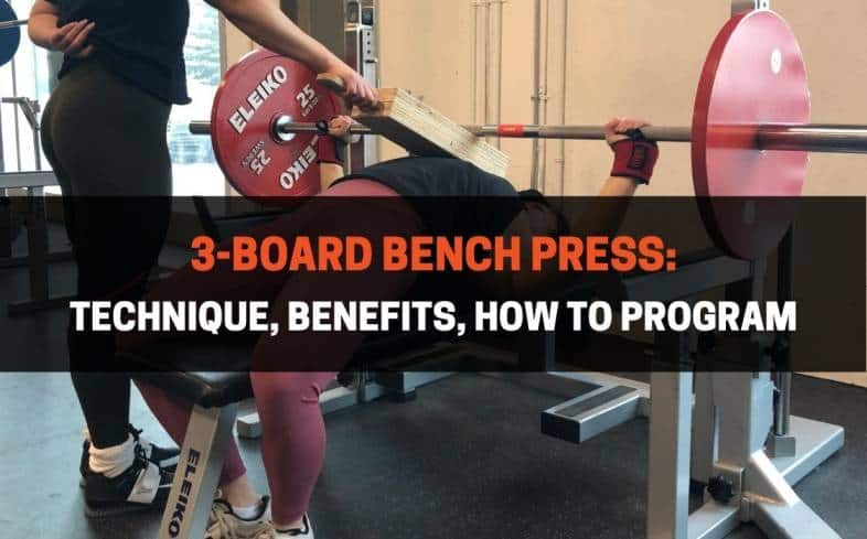 the 3-board bench press is a bench press variation with a shortened range of motion