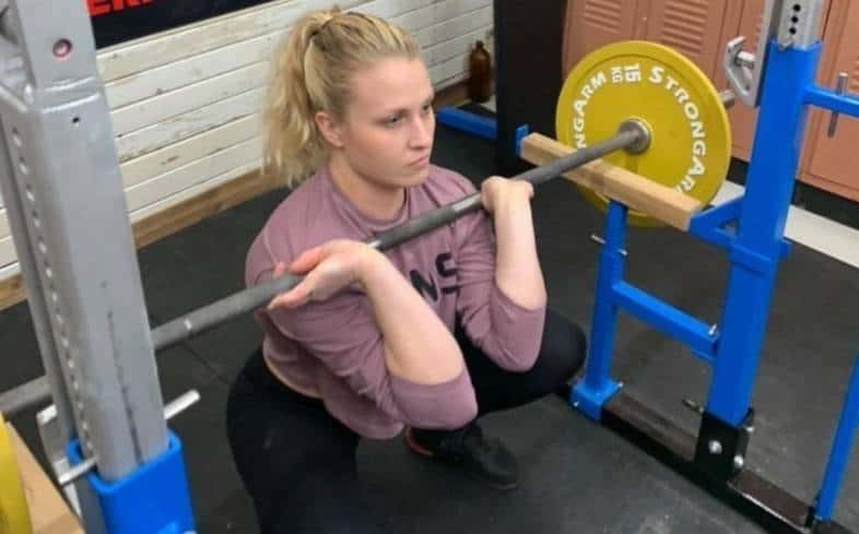 how to know if the front squat bar slipping