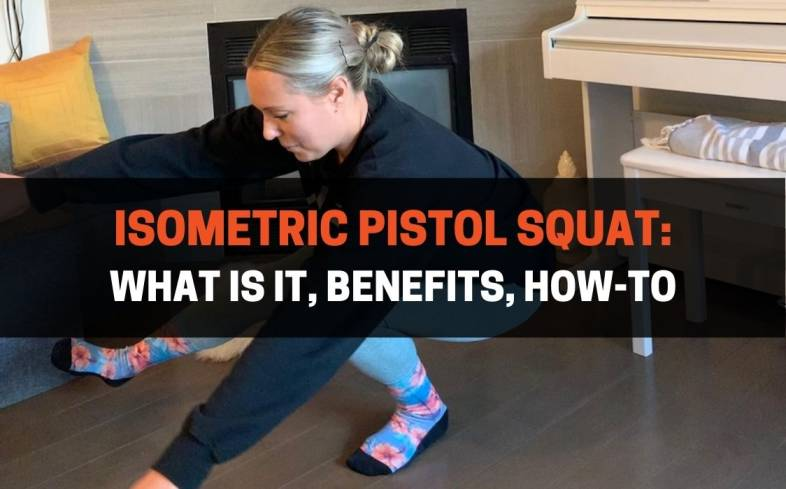 the isometric pistol squat is a regression exercise where the lifter squats down, and shifts their weight to one foot