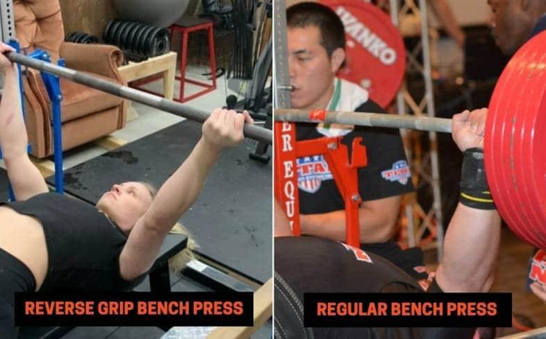 key differences between reverse grip bench press versus regular bench press