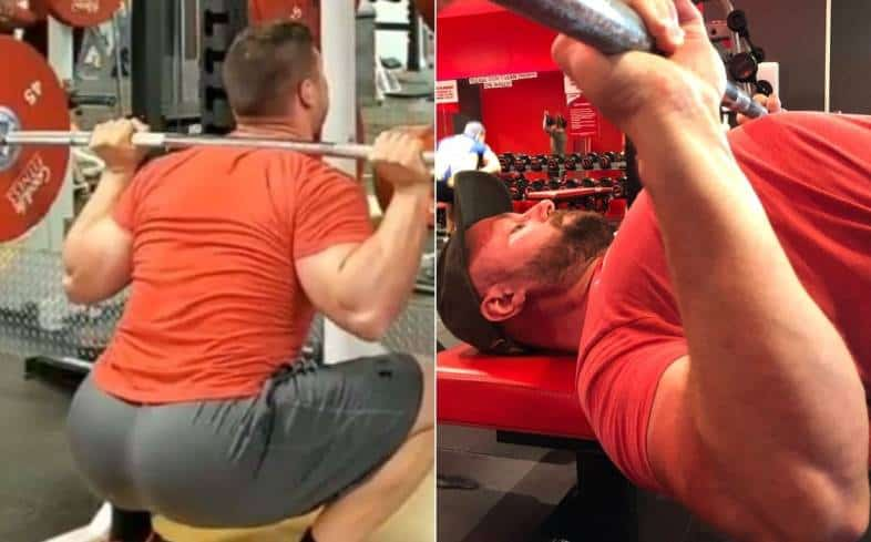 squat to bench press ratios will depend on individual leverages
