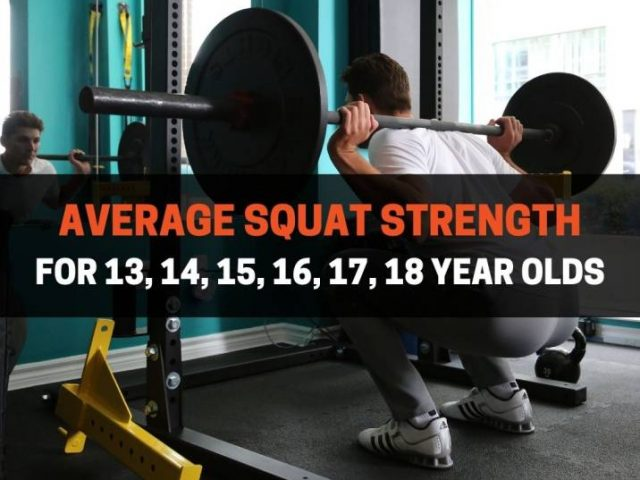 Average Squat Strength For 13, 14, 15, 16, 17, 18 Year Olds
