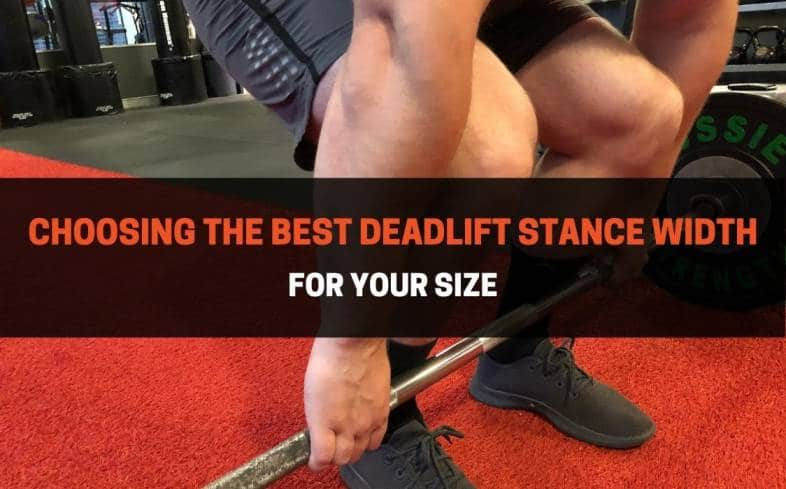 the best deadlift stance is going to be either shoulder-width apart or slightly narrower than shoulder-width apart