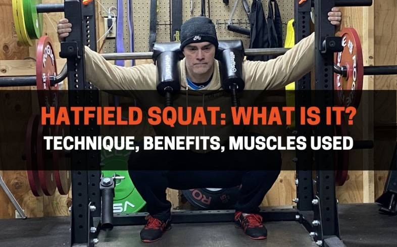 the hatfield squat is a back squat variation that requires a safety squat bar